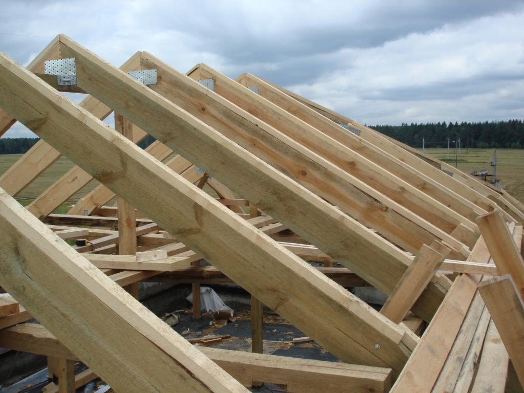 видео строим крышу
