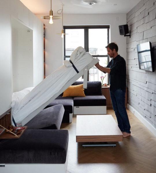 Как сэкономить место в тесной комнате с мебелью-трансформером