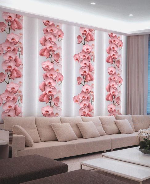 Использование цветочных рисунков в интерьере гостиной