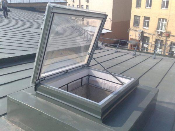 Зенитный фонарь пригоден как для освещения, так и для вентиляции