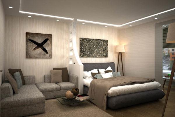 Несколько способов зонировать спальню