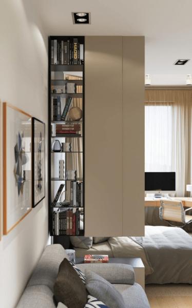 Как правильно зонировать однокомнатную квартиру своими силами